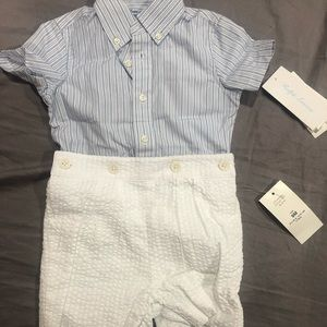 Two piece Ralph Lauren infant boy outfit